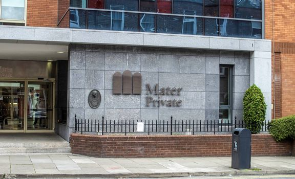 The Entrance to The Mater Private Hospital in Eccles Street,Dublin, Ireland,