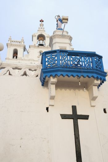 Low angle view of Church of Our Lady of the Immaculate Conception, Panajim, Goa, India