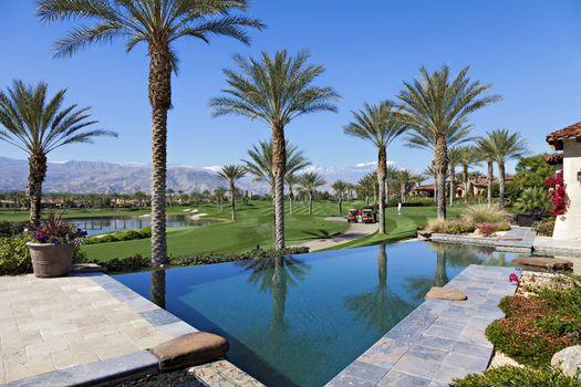 Swimming pool of luxurious villa