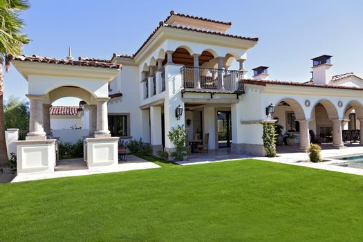 View of luxury mansion