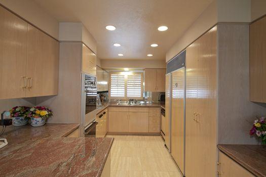 Contemporary kitchen interior of luxury house