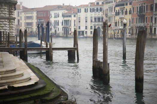 Italy Venice on foggy day