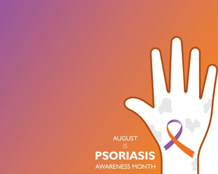 Vector Illustration of Psoriasis Awareness Month observed in AUGUST