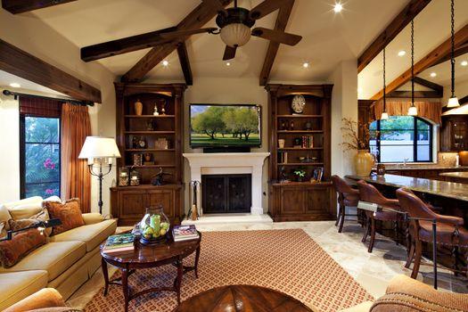 Living room interior of mansion