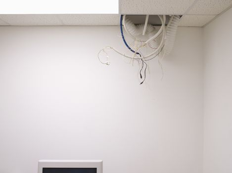 Tangled Hanging from Office Ceiling