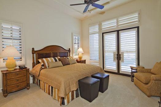 Bedroom interior of luxury villa