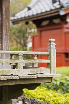 Wood Railing at Senso-ji Temple