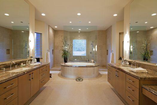 Luxurious bathroom in mansion