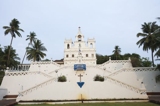 Low angle view of Our Lady Of the Immaculate Conception Church, Panajim, Goa, India