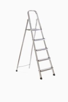 Step ladder over white background