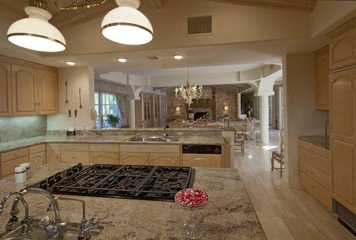 Modern kitchen in luxury villa