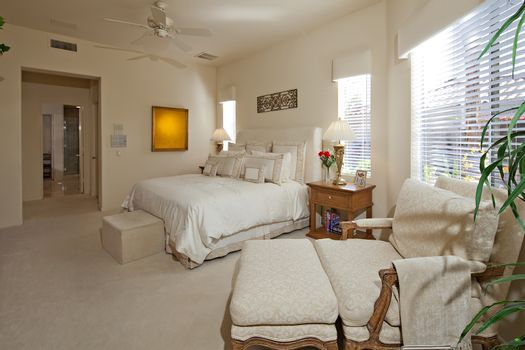 Bedroom of luxury villa