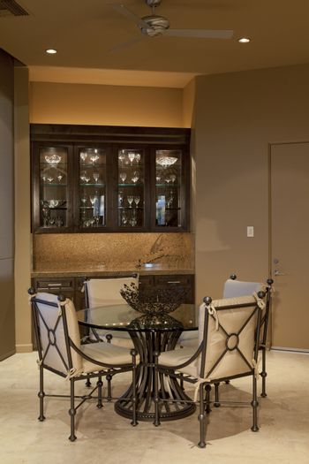Dining room in luxury mansion