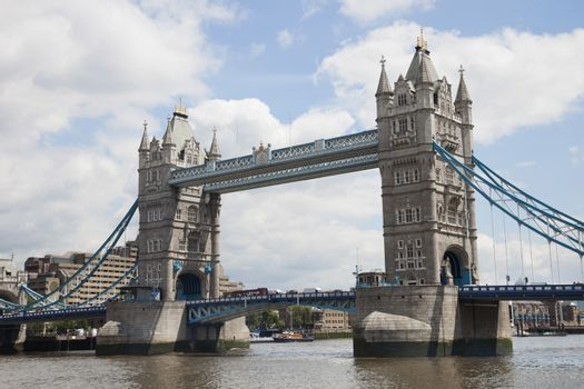 Tower Bridge and the River Thames, London, England, UK