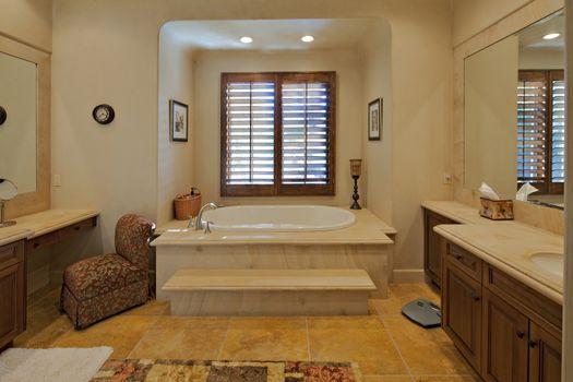 Bathroom interior of a luxury villa