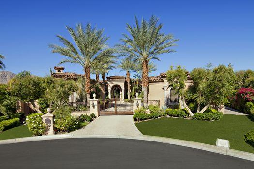 Entrance gate of luxury villa