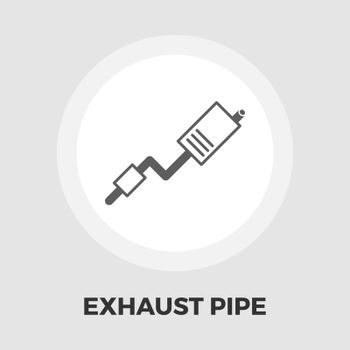 Exhaust pipe flat icon