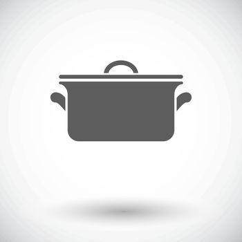 Pan. Single flat icon on white background. Vector illustration.