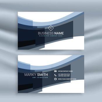 abstarct wavy shape business card design