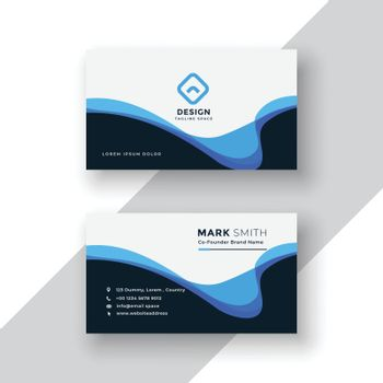 abstract wavy business card design