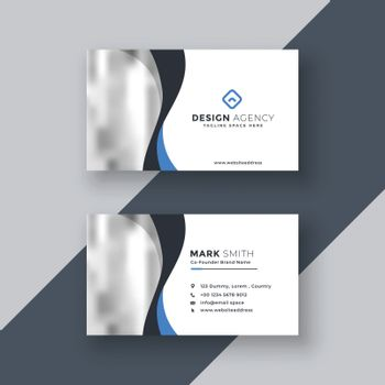 modern business card design with wavy shape