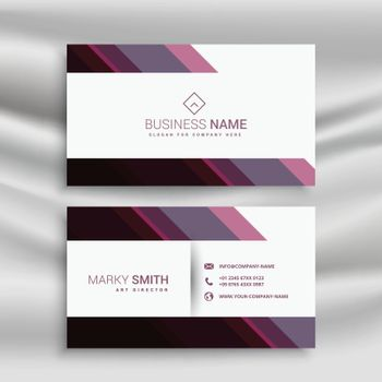 abstract business visiting card design with diagonal shapes