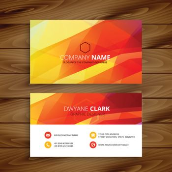 abstract business card abstract design
