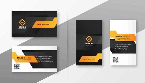 geometric orange business card template