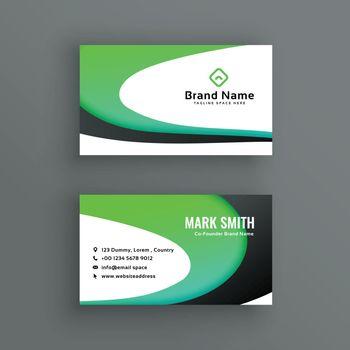 creative wavy business card design