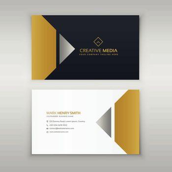 premium business card design in golden theme