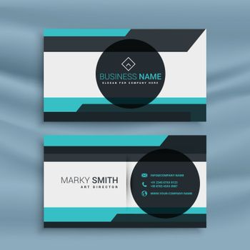 business card with geometric shape design