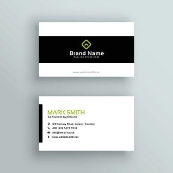 minimal modern business card template