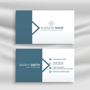 minimal style business card design