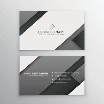 minimal gray black business card
