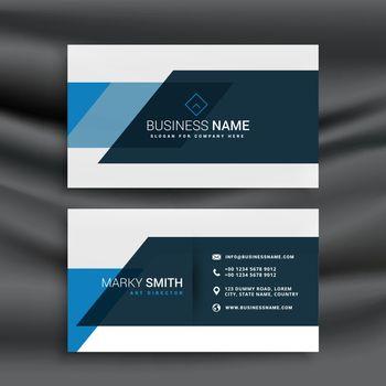 modern blue business identity template