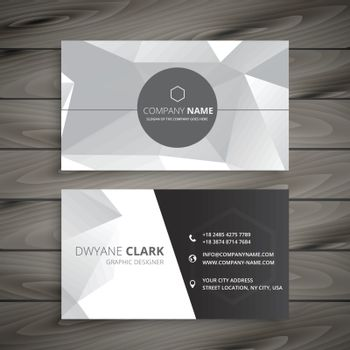 abstract business card in gray