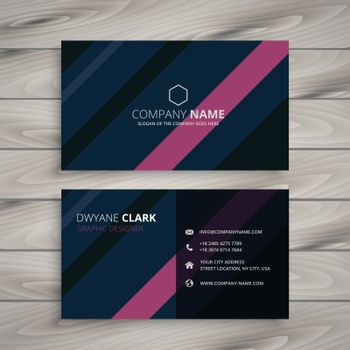 modern business card identity template