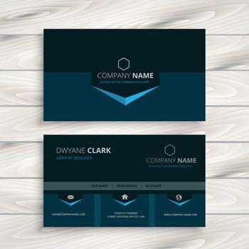 dark blue business card