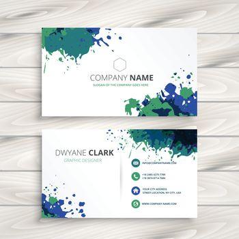 creative splatter business card