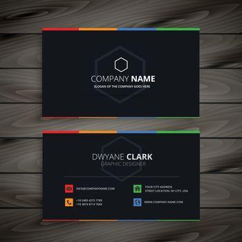 dark company business card