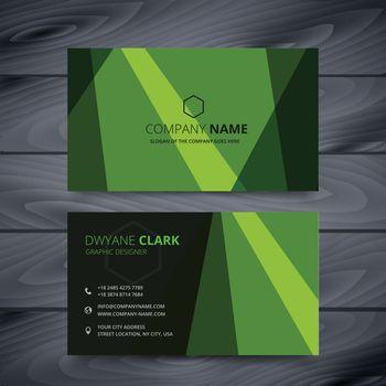 green business card design