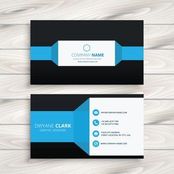 blue black business card