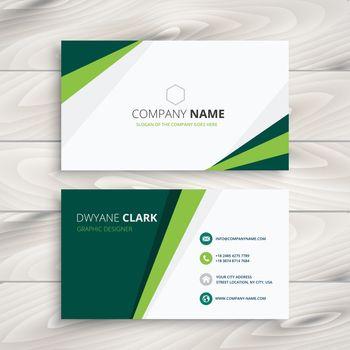 clean green visit card