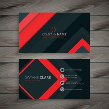minimal dark business card design