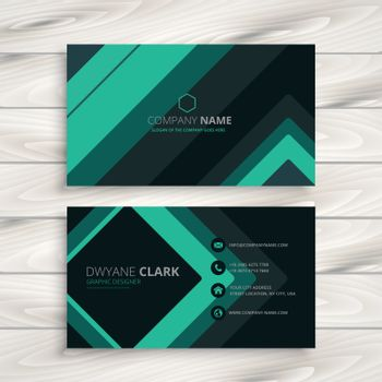 turquoise minimal business card