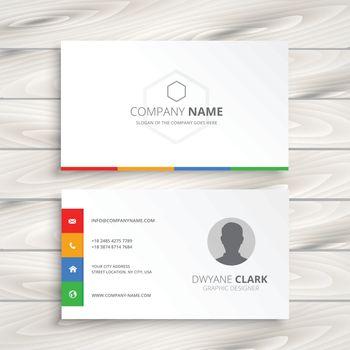 clean white business card