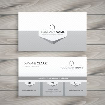 clean gray business card