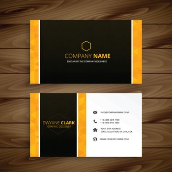 business card yellow template