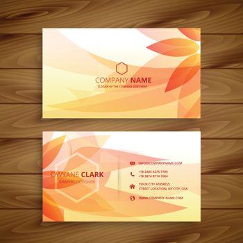 beautiful flower business card