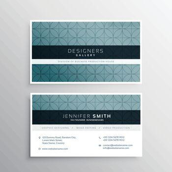 minimal pattern company business card